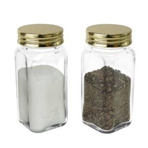 SP-06GD-1 Square Spice Bottle – Gold Cap