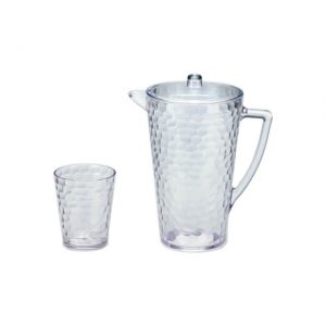 AW-009 AW-012 Hammer Flowers Pitcher and Tumbler