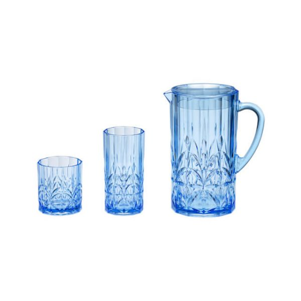 Holar AW-013 AW-014 AW-017 Royal Blue Pitcher and Tumbler