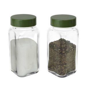 SP-06INJ Glass Spice Shaker – Army Green Cap