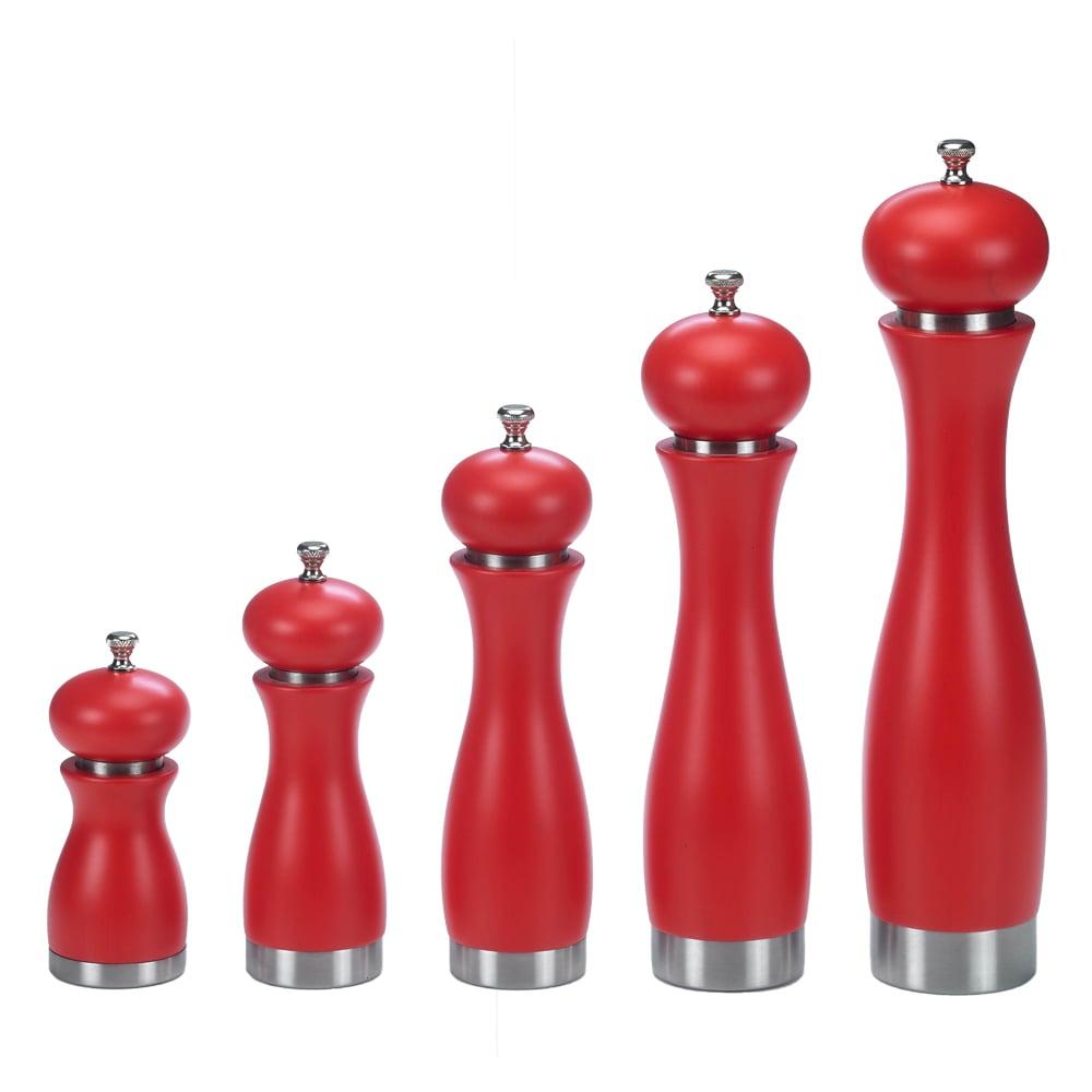 BA2SS-RD Red Salt Pepper Grinder Set