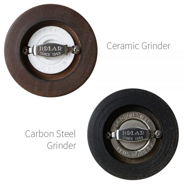 Ceramic burr mechanism of Holar wood classic salt pepper grinders_AL3