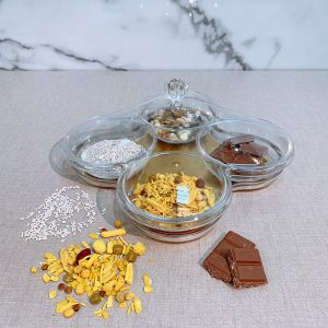 Chocolate Nuts India Snacks Serving Platters
