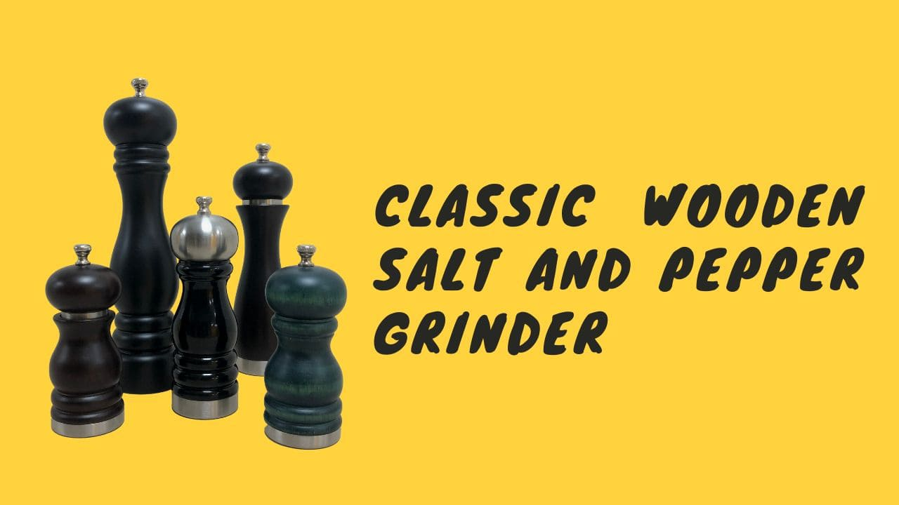 Classic Wooden Salt And Pepper Grinder-cover