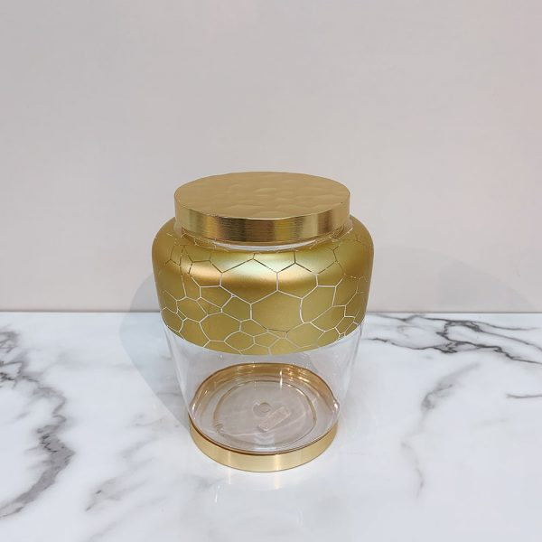 Fashionable Gold Pattern Food Canister 1