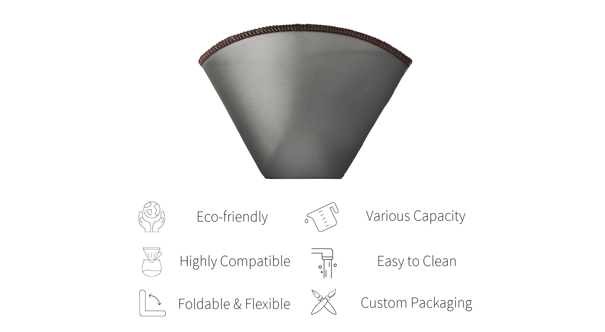 Features of Holar Eco-friendly coffee filter-PS-DC05