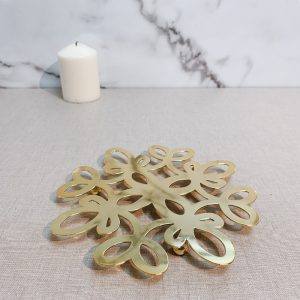 Gold Flower Shape Potholder