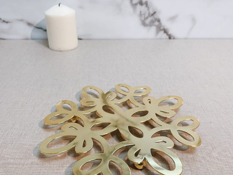 Holar Diwali Gold Flower Shape Potholder - 1