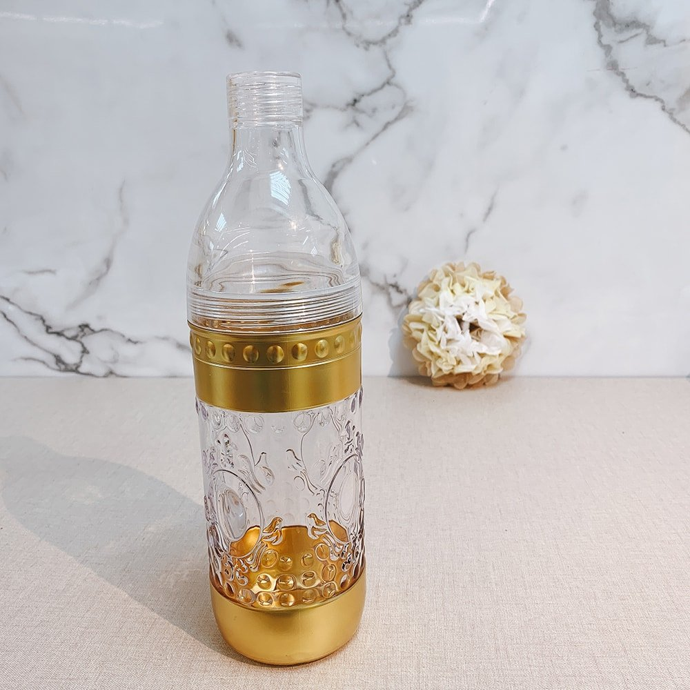 Gold Printing Beverage Shaker Bottle