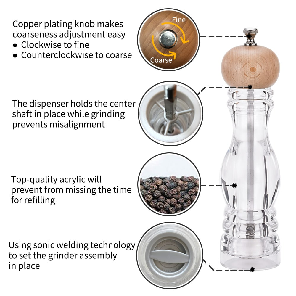 Holar AT-BHC Salt Pepper Mills-infographic