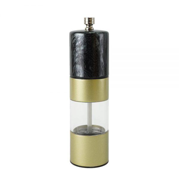 Holar Black marble and matt gold pepper grinder-SSAMP-BK