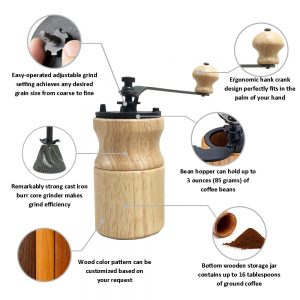 CM-A19B Portable Manual Wood Coffee Mill