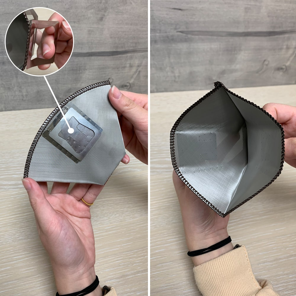 Holar - Coffee - Coffee Filter - PS-DC06 Reusable Foldable Stainless Steel Coffee Sector Dripper with Hanging Ear- 3