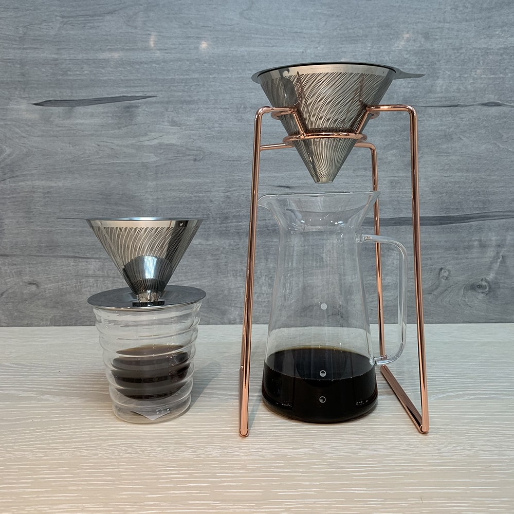 Holar - Coffee - Coffee Filter - Reusable Stainless Steel Double Coffee Dripper - 4
