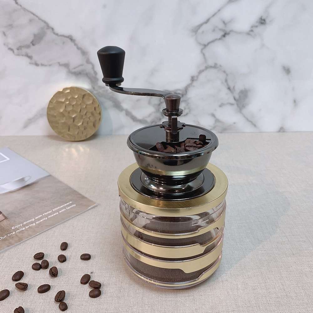 Holar Coffee Mill Acrylic Series CM-HK-Canister Coffee Grinder - 1