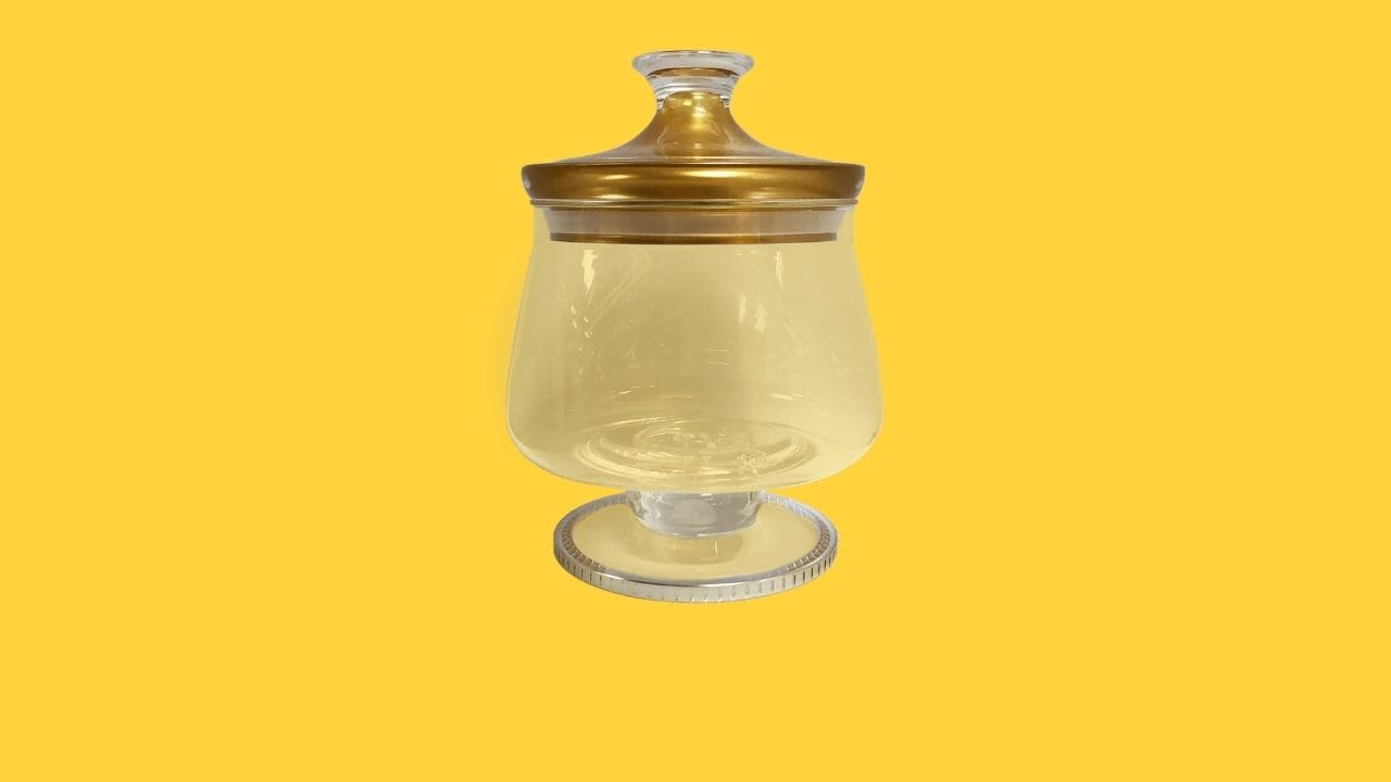 Holar DY-121 Clear Airtight Canister with Gold Design-cover
