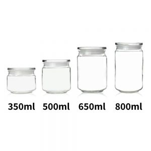 GCA-02 Glass Jar with Lid – 650 ml