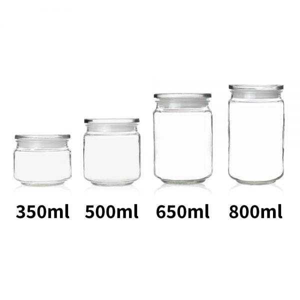 Holar - Kitchen Canister Series - Glass Jars Series - GCA-01 GCA-02 GCA-03 GCA-04 Glass Canister Container