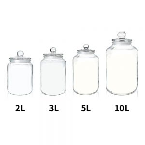 GCA-5L Glass Jar with Lid – 5000 ml