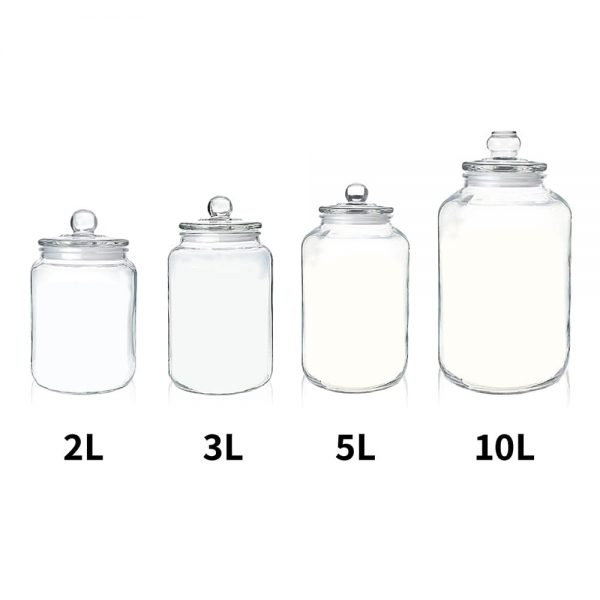 Holar - Kitchen Canister Series - Glass Jars Series - GCA-2L GCA-3L GCA-5L GCA-104 Glass Canister Container