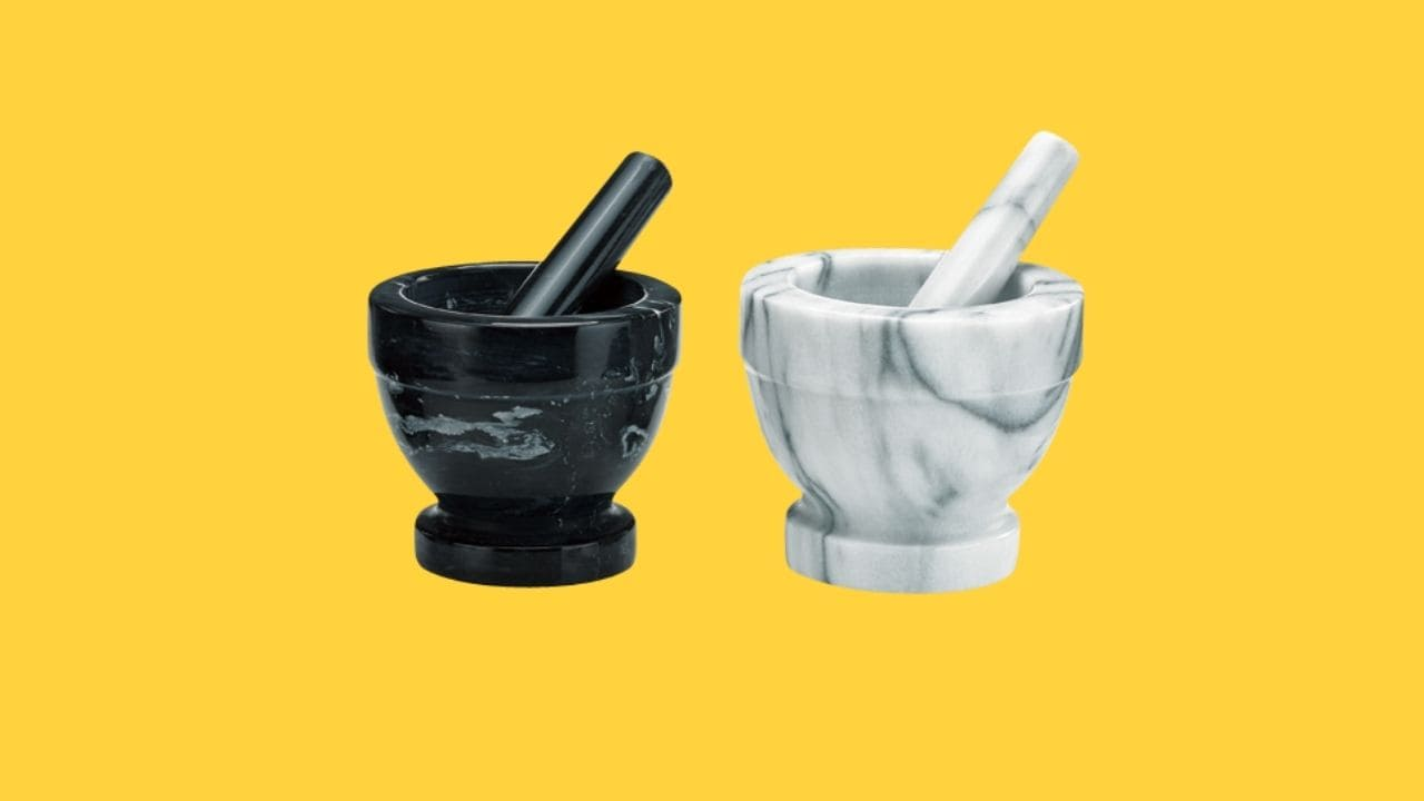 Holar MB-05 Marble Mortar and Pestle Set-cover