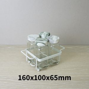 Salt and Pepper Shaker Set Holder of 4
