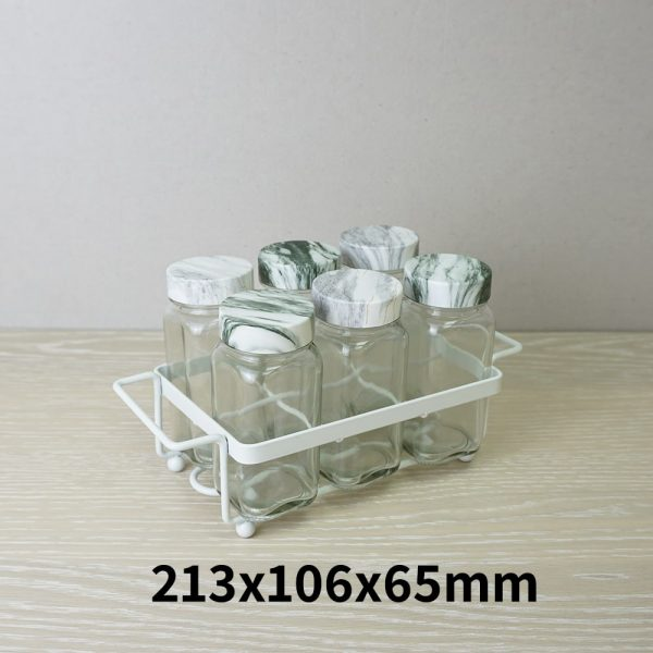 Holar - Salt Pepper Holder Stand Tray - Salt and Pepper Shaker Set Holder of 6 - WSD-G Stand