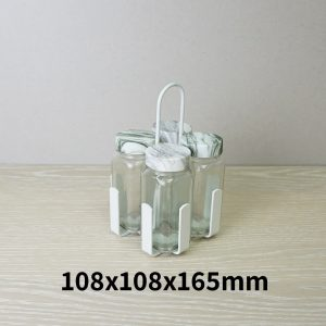 Salt and Pepper Shaker Set Stand of 4