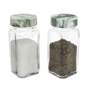 SP-06MBG Glass Spice Jar – Marble Green Cap