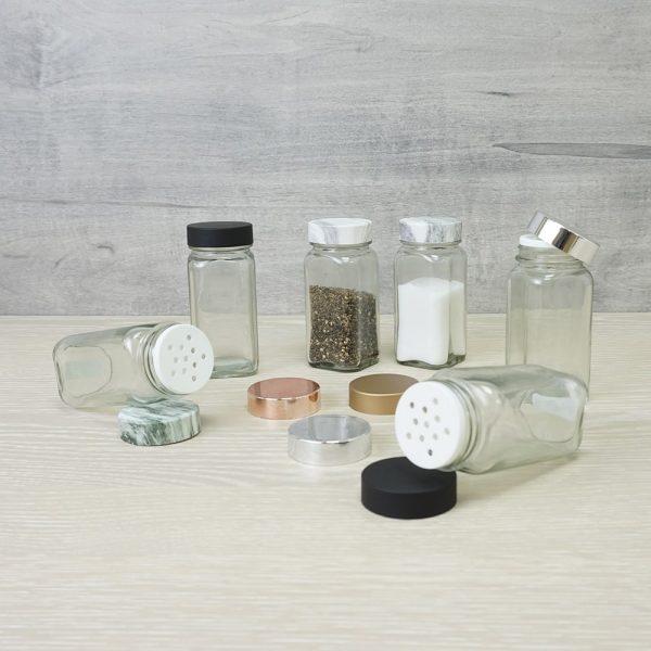 Holar - Salt and Pepper Catagory - Salt Pepper Spice Shaker Bottle - SP-06MBW Spice Jar - 5 - Various
