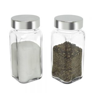 SP-06SL Glass Spice Container – Silver Cap