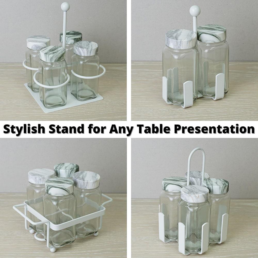 Holar - Salt and Pepper Catagory - Salt Pepper Spice Shaker Bottle - SP-06SL Spice Jar - 6 - Stand
