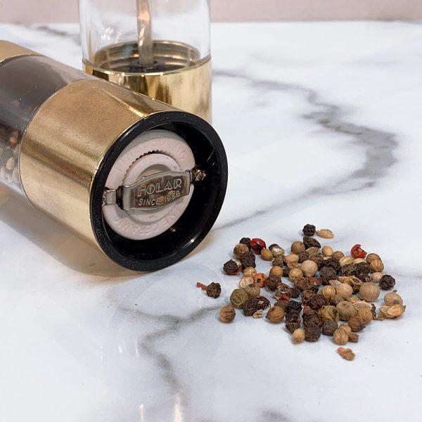 Holar - Salt and Pepper - SSAM-026GD Pepper Mill Grinder - Burr
