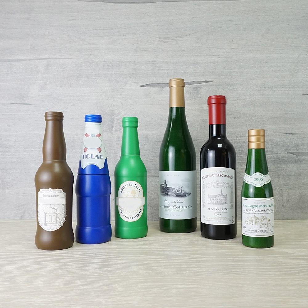 Holar - Salt and Pepper - Wood Mill - BR-03 Beer Bottle Salt and Pepper Mills - Bottles