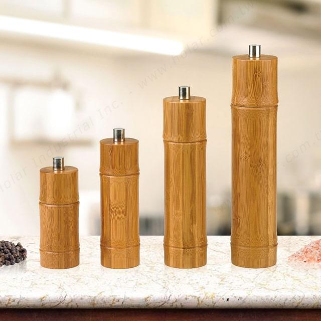 Holar bamboo salt pepper mill grinder shaker - cover