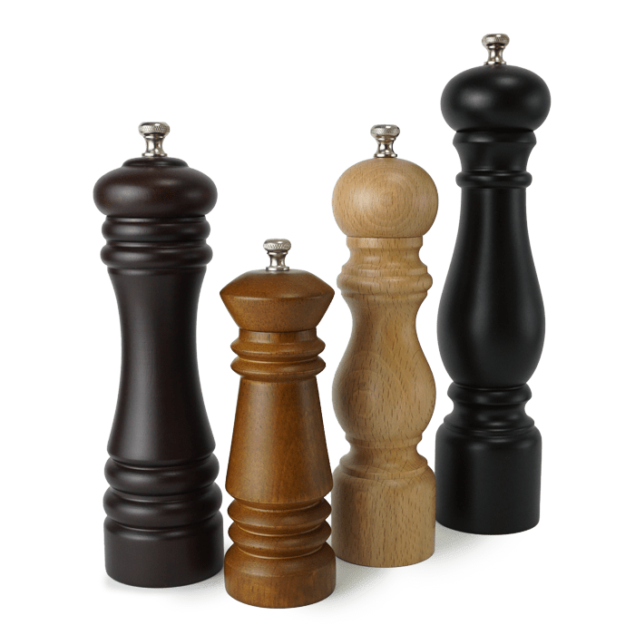 Holar classical wooden salt and pepper grinder