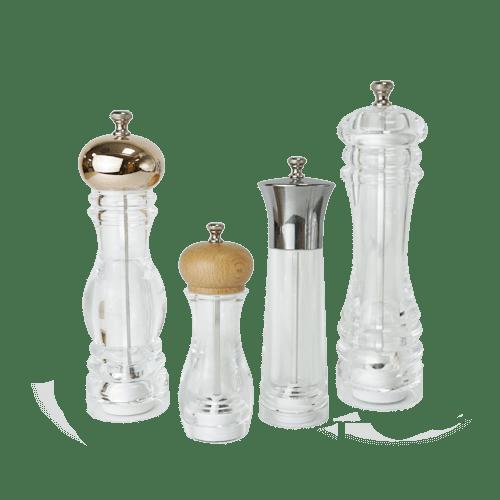Holar durable acrylic pepper and salt mill