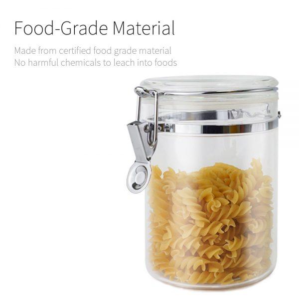 Holar food grade BPA free acrylic jar_buckle series