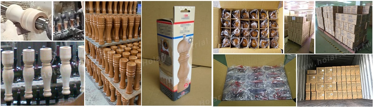 Holar from Taiwan - Salt and Pepper Mill Grinder Introduction - Packing and Delivery