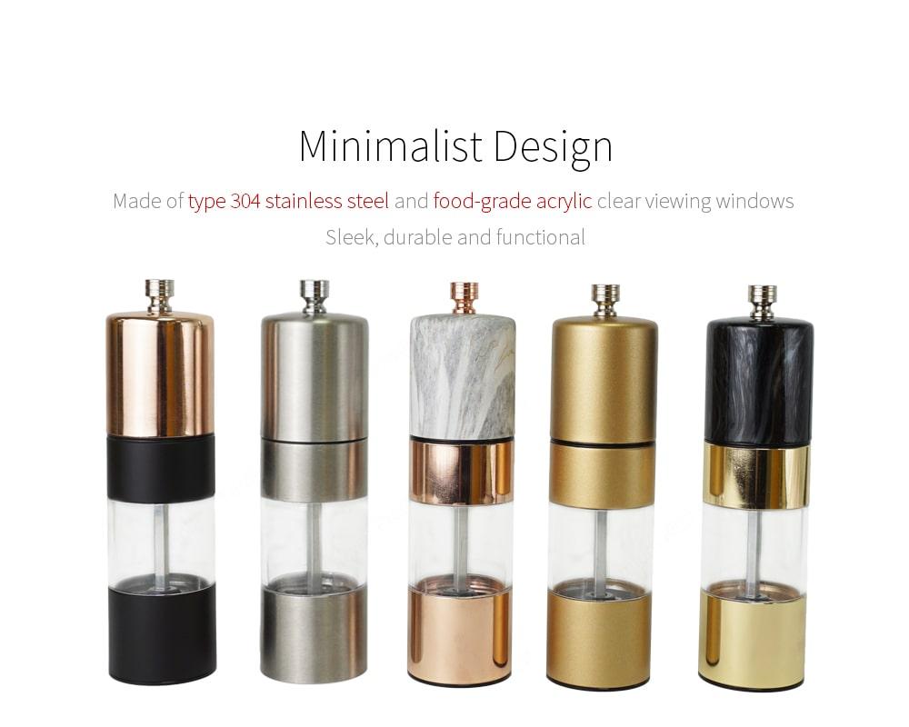 Holar rose gold gold silver metal salt pepper grinder