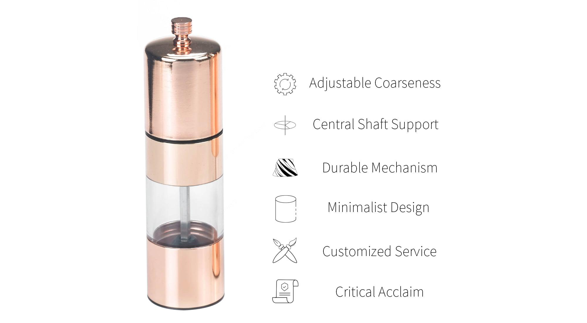 Holar rose gold metal salt pepper grinder-SSA-RG