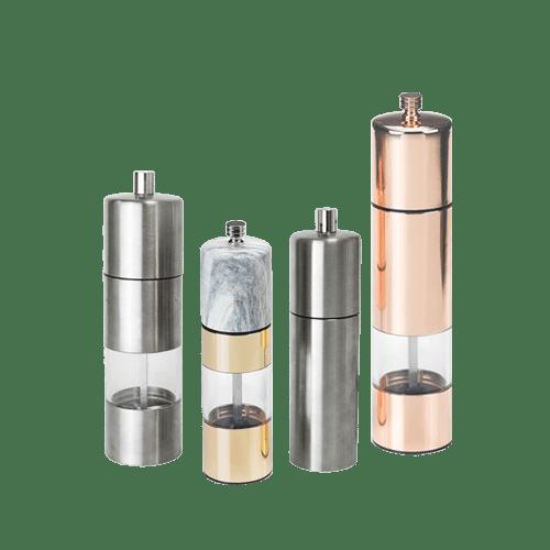 Holar stainless steel pepper grinder series