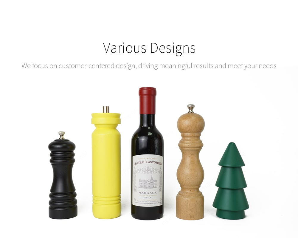 Holar unique design wooden salt pepper grinders with different style
