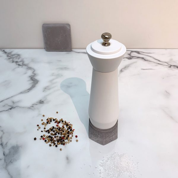 Holar wood and concrete salt pepper mill-1