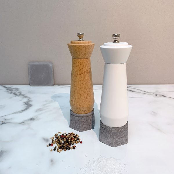Holar wood and concrete salt pepper mill-3