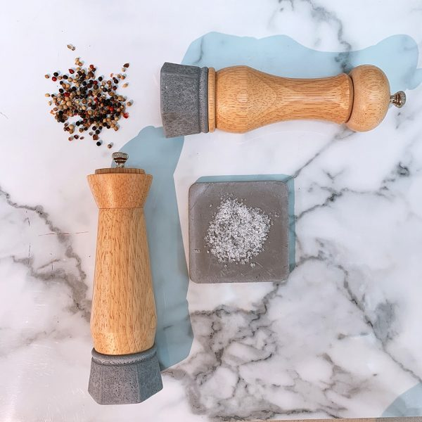 Holar wood and concrete salt pepper mill-6