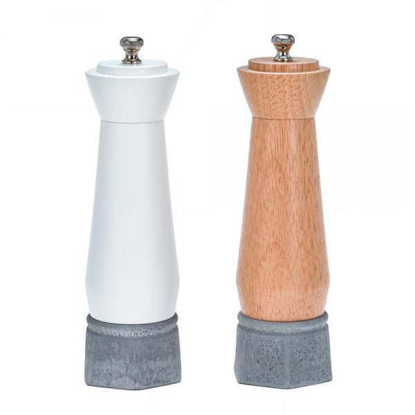 Holar wood and concrete salt pepper mill