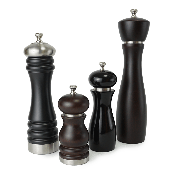 Holar wood pepper mill with stainless steel