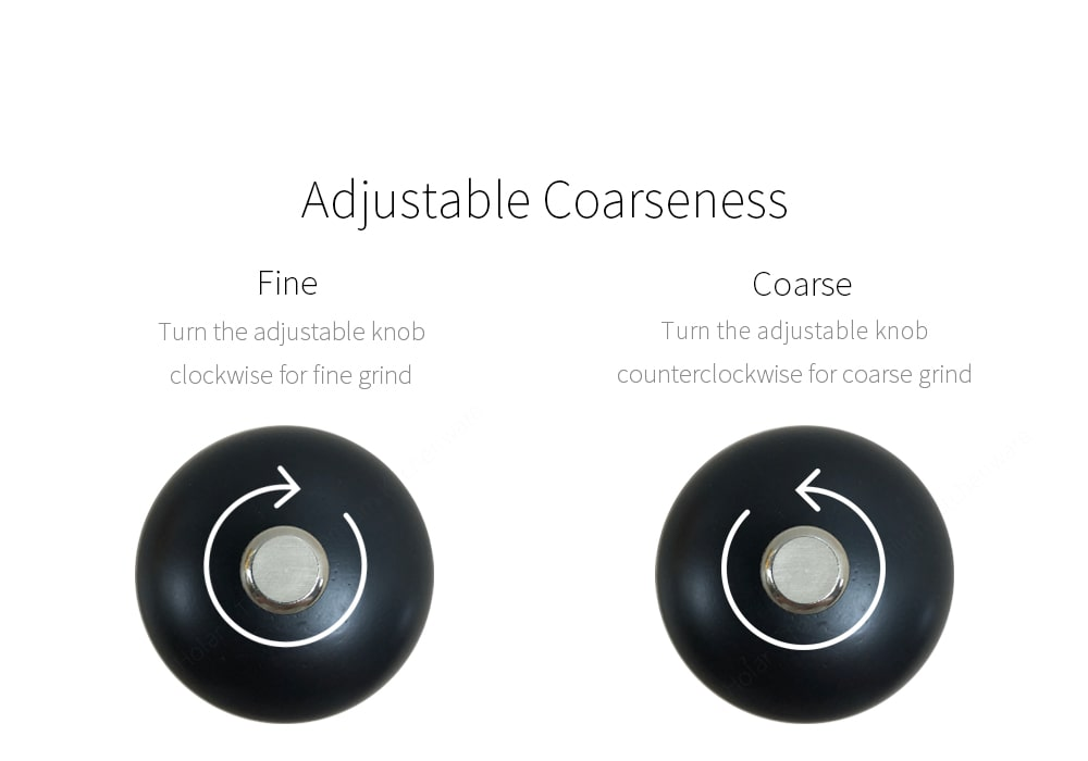 How to adjust coarseness of salt pepper grinders