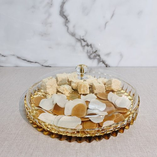 Holar Diwali Lid and Gold Top Food Tray for Soan Papdi - 1